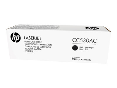HP 304A - Sort - original - LaserJet - tonerpatron ( CC530AC ) Contract - for Color LaserJet CM2320fxi, CM2320n, CM2320nf, CP2025, CP2025dn, CP2025n, CP2025x