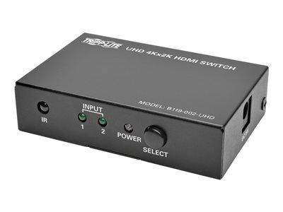 Tripp Lite 2-Port HDMI Switch for Video & Audio 4K x 2K UHD 60 Hz w Remote Video/audio switch