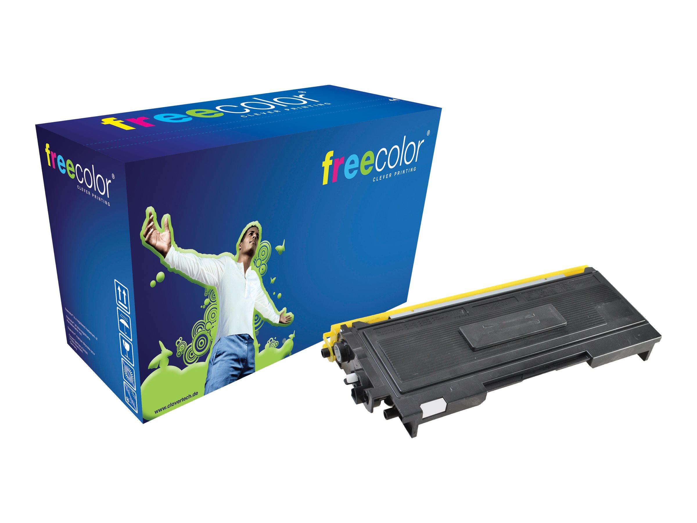 FREECOLOR - 90 g - Schwarz - Tonerpatrone (Alternative zu: Brother TN2000) - für Brother DCP-7010, DCP-7010L, DCP-7025, MFC-7225n, MFC-7420, MFC-7820N; FAX-2820, 2825