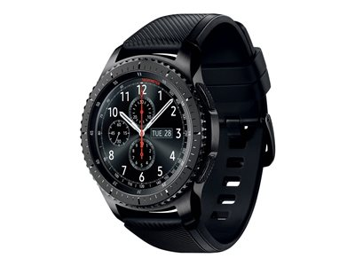 Samsung Gear S3 Frontier 46 mm black smart watch with band silicone black
