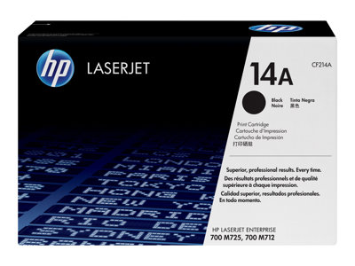 HP 14A Black original LaserJet toner cartridge (CF214A)