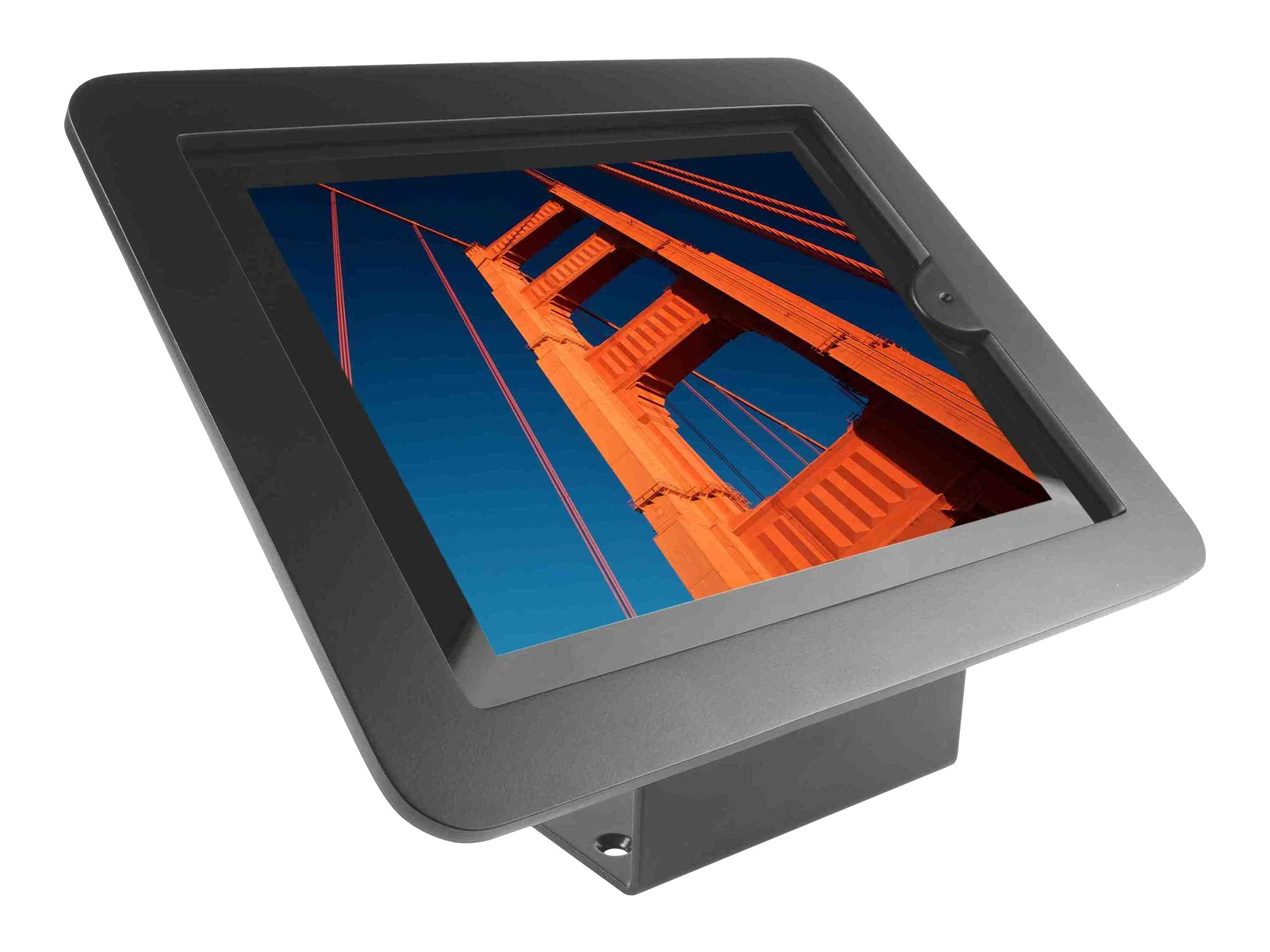 "Compulocks Executive 45° - iPad 9.7"" Wall Mount / Counter Top Kiosk - Black - Kit de montage (support de fixation, cadre professionnel) pour tablette - aluminium - noir - montable au plafond, montable sur bureau - pour Apple iPad (3ème génération); iPad 2; iPad Air; iPad Air 2; iPad with Retina display"
