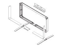 Picture of Cisco Floor Stand Kit - mounting kit (Monolithic) (CTS-MX800-S-FSK=)