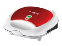Moulinex SW6125 Break Time Red Ruby - Sandwichmaker / Waffeleisen / Grill