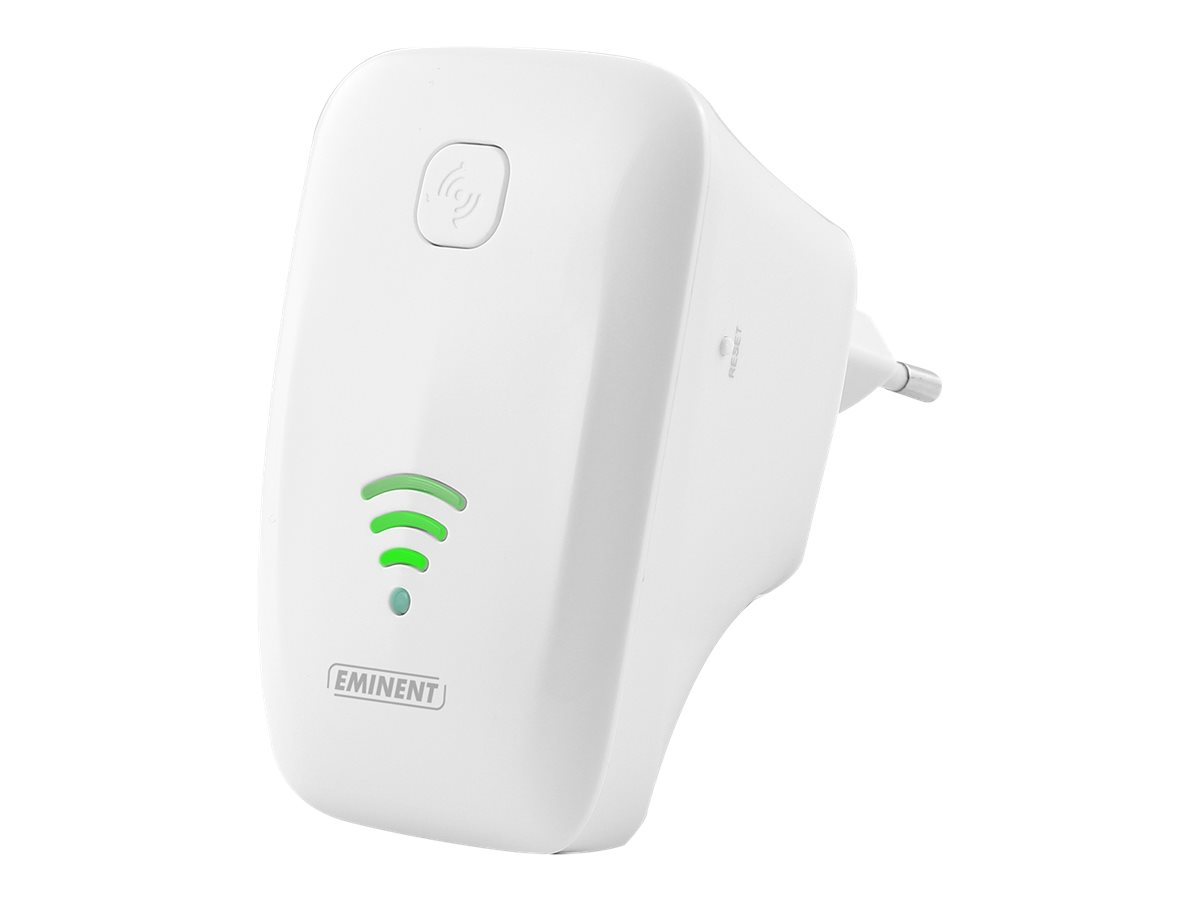 Eminent EM4595 Universal WiFi Repeater with WPS - Wi-Fi-Range-Extender - 100Mb LAN - 802.11b/g/n - 2.4 GHz