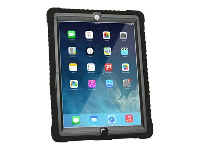 Max Cases Shield Case - Protective case for tablet - rugged - silicone, polycarbonate - black - for Apple iPad (3rd generation); iPad 2; iPad with Retina display (4th generation)
