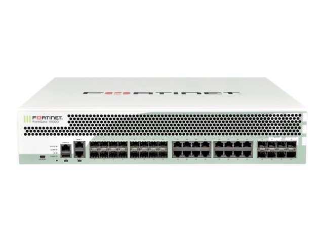 Fortinet FortiGate 1500D-DC - Enterprise Bundle - security appliance - with 3 years FortiCare 8X5 Enhanced Support + 3 …