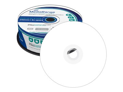 - DVD+R DL x 25 - 8.5 Go - support de stockage