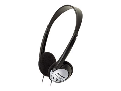 Panasonic RP-HT21 Headphones on-ear wired 3.5 mm jack black