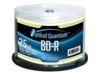 Optical Quantum Logo Top 50 x BD-R 25 GB 4x spindle