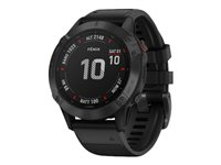 Garmin fenix 6 Pro 47 mm Sort Sportsur