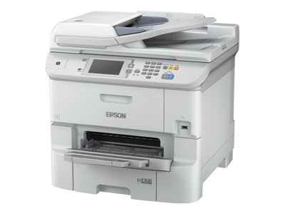 Epson WorkForce Pro WF-6590DWF - Multifunction printer - colour - ink-jet - A4 (210 x 297 mm) (original) - A4/Legal (media) - up to 22 ppm (copying) - up to 34 ppm (printing) - 580 sheets - 33.6 Kbps - USB 2.0, Gigabit LAN, Wi-Fi(n), USB host, NFC ***CUSTOMER CASHBACK WITH PRINTER & PROJECTOR PURCHASE - PLEASE CONTACT US FOR MORE DETAILS***