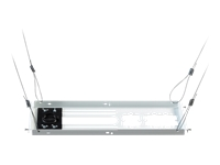 Epson SpeedConnect Above Tile Suspended Ceiling Kit (ELPMBP04) - Mounting component (4 concrete anchors, suspended ceiling tile, 4 wood eyebolts, chrome trim ring, 4 x 25' flexible cables) for projector - white - ceiling mountable - for BrightLink 436, 536; PowerLite 10X, 20XX, 21XX, 22XX, 97X, 980, 990, E20, S39, W39