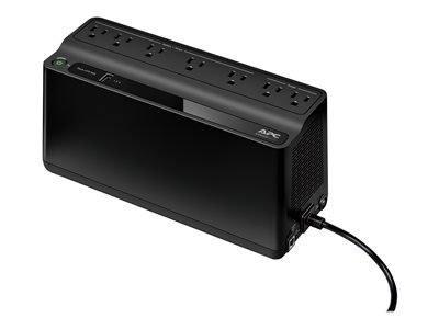 APC Back-UPS BE600M1 UPS AC 120 V 330 Watt 600 VA 1 x output connectors: 7 blac