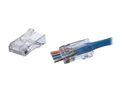 IDEAL Feed-Thru Network connector RJ-45 (M) CAT 6 (pack of 100)