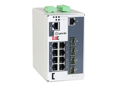 Perle IDS-509CPP-XT Switch managed 8 x 10/100/1000 (PoE+) + 1 x 100/1000 SFP