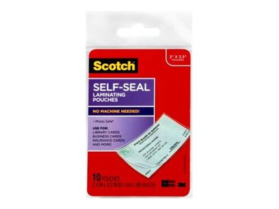 Scotch LS851-10G 10-pack clear 2 in x 3.5 in self-