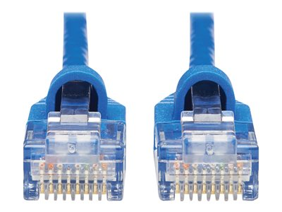 Tripp Lite Cat6a 10G Snagless Molded Slim UTP Ethernet Cable (RJ45 M/M), Blue, 10 ft. - Patch cable - RJ-45 (M) to RJ-45 (M) - 3.045 m - UTP - CAT 6a - molded, snagless, stranded - blue