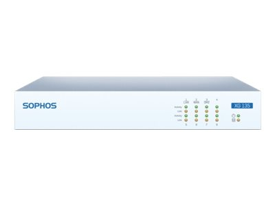 Sophos XG 135 Security appliance with 1 year TotalProtect Plus 8 ports GigE deskt
