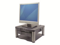 """Fellowes Premium Monitor Riser Plus - Mounting component (sliding drawer) for LCD display - graphite - screen size: 21"""""""