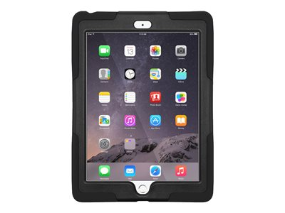 Amzer Tuffen Case Back cover for tablet silicone black 9.7INCH with screen protector