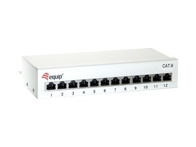 equip Patch Panel - Patch Panel - RJ-45 X 12 - Hellgrau, RAL 7035