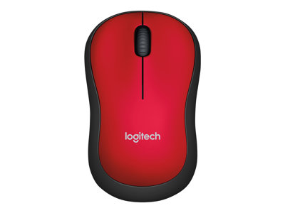 Logitech M185 - Mouse - optical - wireless - 2.4 GHz - USB wireless receiver - red