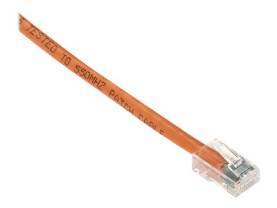 Black Box GigaTrue CAT6 Channel 550-MHz Patch Cable with Basic Connector - patch cable - 7.6 m - orange