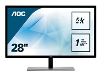 AOC U2879VF 28' 3840 x 2160 DVI VGA (HD-15) HDMI DisplayPort 60Hz