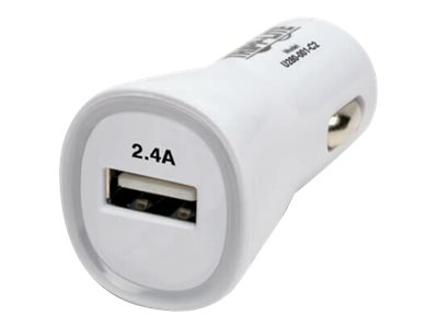 Tripp Lite USB Tablet Phone Car Charger High Power Adapter 5V / 2.4A 12W car power adapter - USB