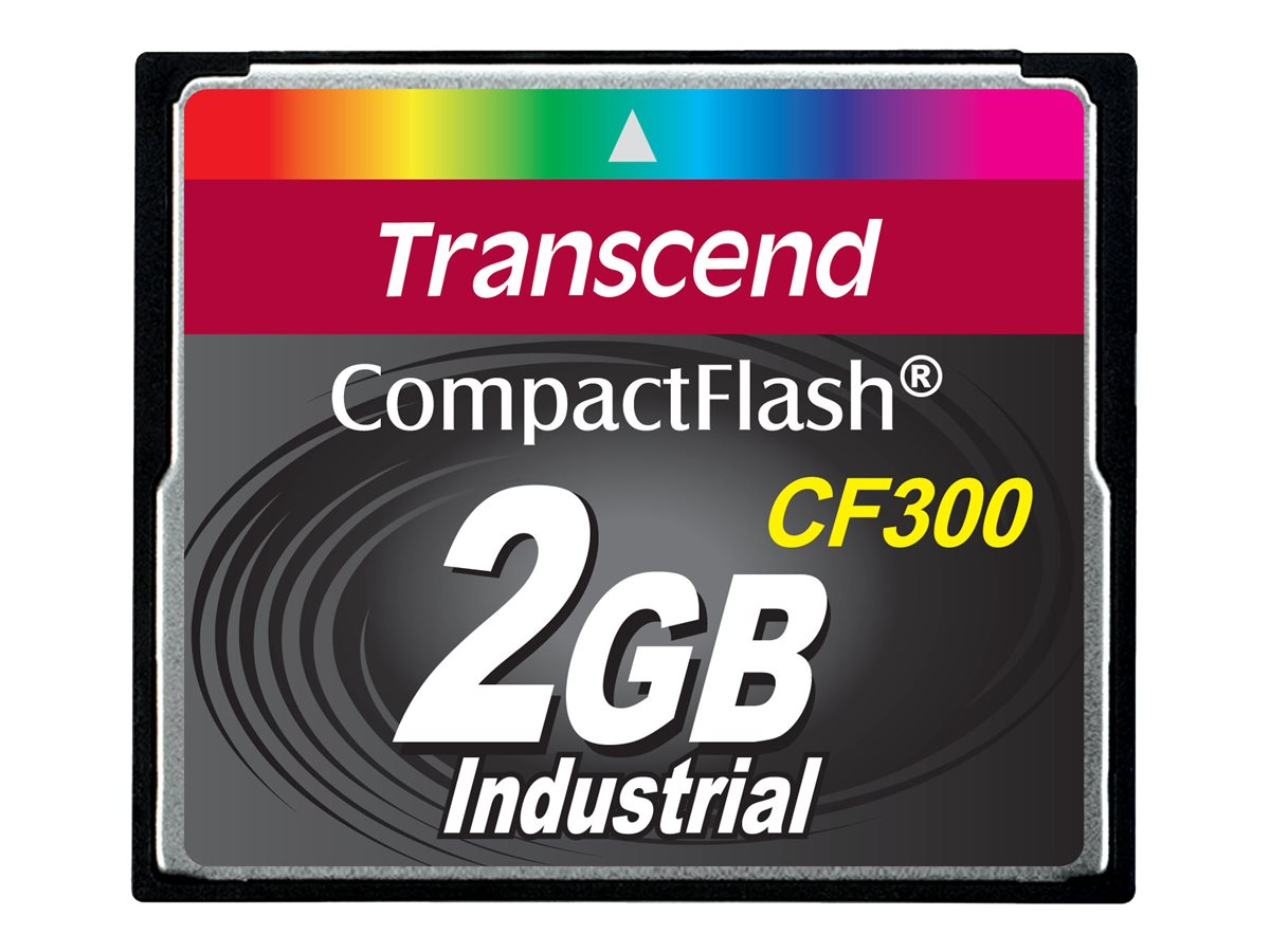 Transcend CF300 Industrial - Flash-Speicherkarte - 2 GB - 300x - CompactFlash