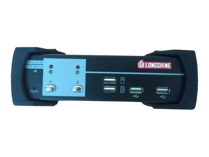 Longshine LCS-K702D - KVM-/Audio-/USB-Switch - USB - 2 x KVM/Audio/USB - 1 lokaler Benutzer - Desktop