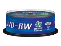 Verbatim - 25 x DVD-RW - 4.7 GB (120min) 4x - matt silver - spindle