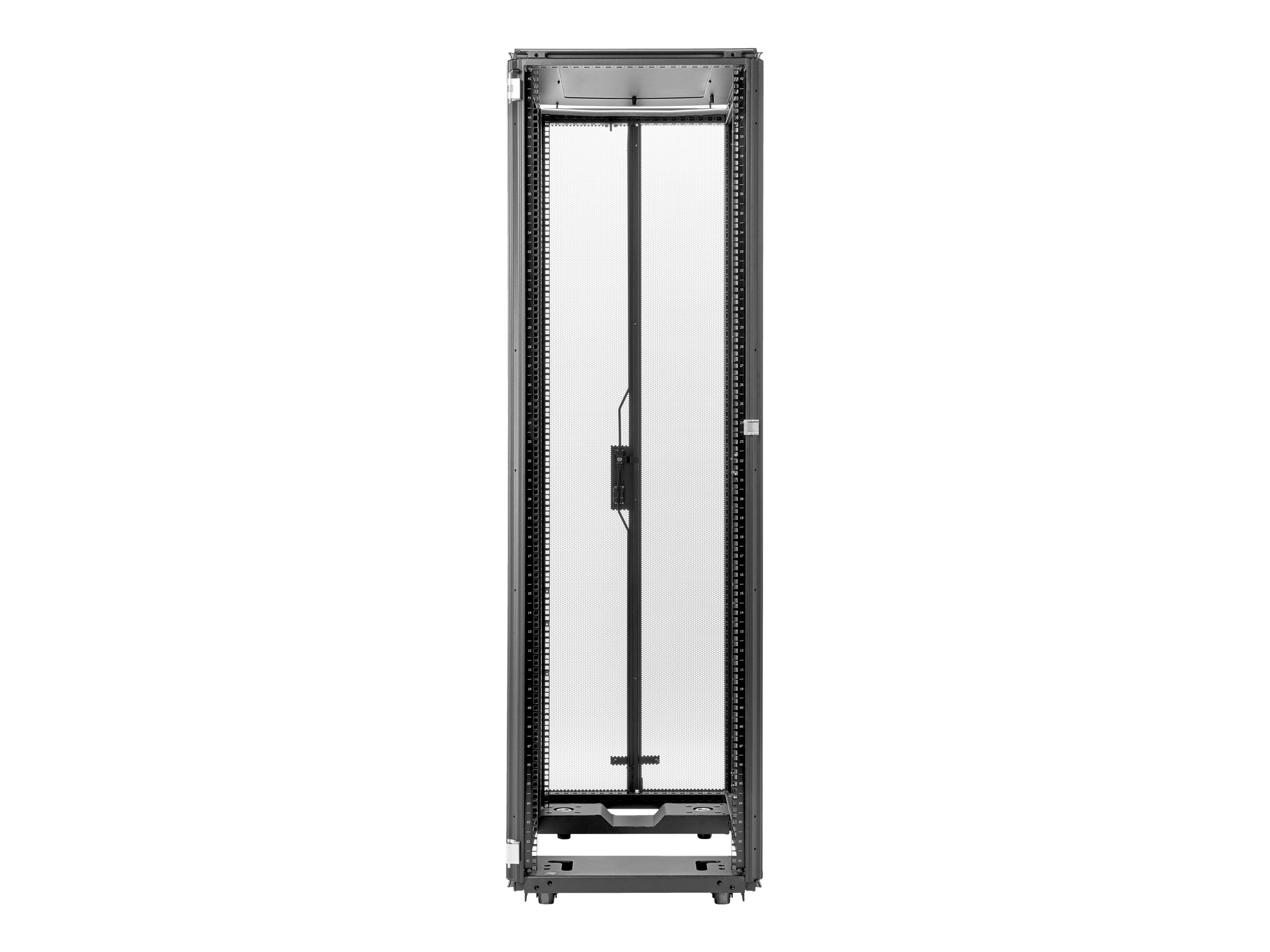 HPE 600mm x 1075mm G2 Kitted Advanced Pallet Rack - Schrank - Schwarz - 42U
