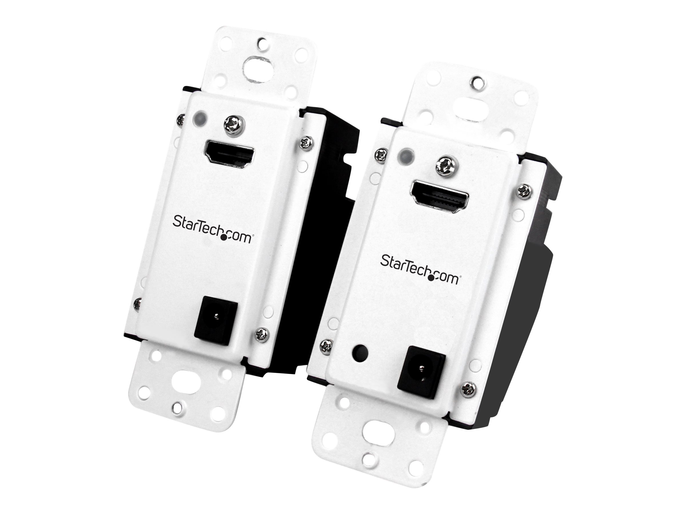StarTech.com Wall Plate HDMI over CAT5 Extender with Power Over Cable HDMI CAT5 or CAT6 Audio Video Extender Kit 1080p …