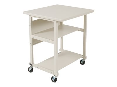 Essentials LB-PR Mobile All-Purpose Stand Cart powder-coated steel gray