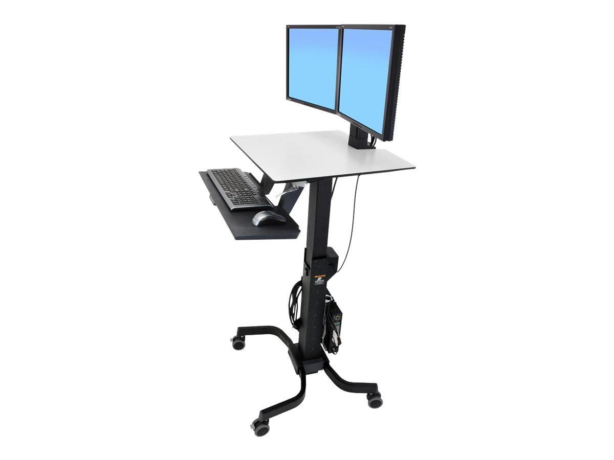 Ergotron WorkFit-C Dual Sit-Stand Workstation - sit/standing desk