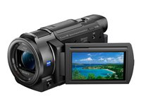 Sony Handycam FDR-AX33 Camcorder 4K 18.9 MP 10x optical zoom Carl Zeiss flash card