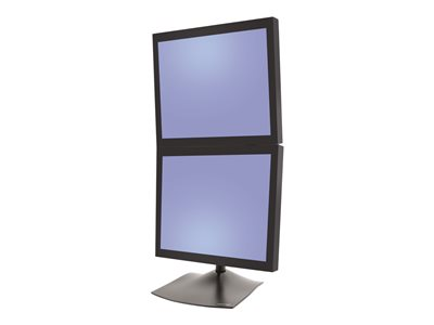Ergotron DS100 Dual-Monitor Desk Stand, Vertical Stand for 2 LCD displays