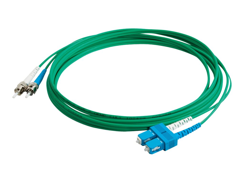 C2G 5m SC-ST 9/125 Duplex Single Mode OS2 Fiber Cable - Plenum CMP-Rated - Green - 16ft - patch cable - 5 m - green