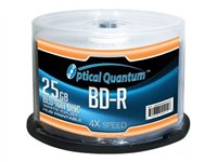 Optical Quantum White Inkjet Hub Printable 50 x BD-R 25 GB 4x white