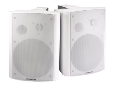 Monoprice Active Wall Mount Speakers Speakers 25 Watt 2-way white