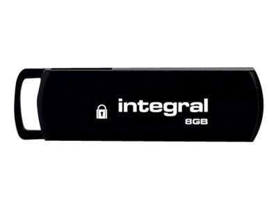 Integral Memory Integral Secure 360 - USB-Flash-Laufwerk - 8 GB - USB 2.0 - Stylish Black