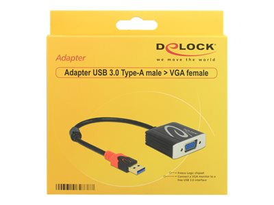 USB 3.0 Type-A male > VGA female