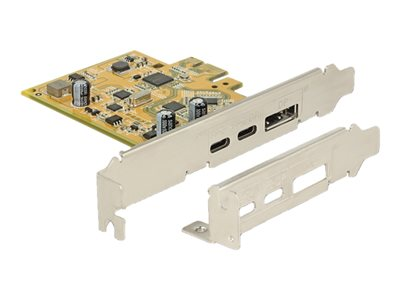 PCI Express Card > 1 x external USB Type-C 3.1 female + 1 x external USB Type-C 3.1 (DP Alt Mode) female