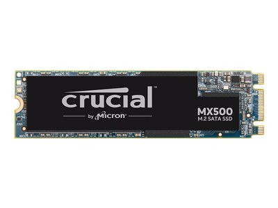 Crucial MX500 - Solid state drive - encrypted - 500 GB - internal - M.2 2280 - SATA 6Gb/s - 256-bit AES - TCG Opal Encryption 2.0