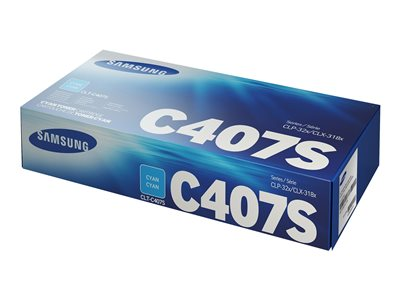Samsung CLT-C407S Cyan original toner cartridge