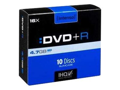 Intenso - 10 x DVD+R - 4.7 GB 16x - Slim Jewel Case