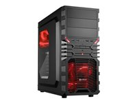 SHARKOON, VG4-W ATX Red 2x USB3.0/2x USB2.0