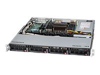 Rack-mountable - 1U - ATX - SATA/SAS - hot-swap 440 Watt - black - USB/serial